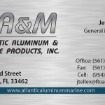 picture of Atlantic Aluminum and Marine business card