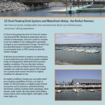 picture of EZ Dock promotional piece for waterfront dining